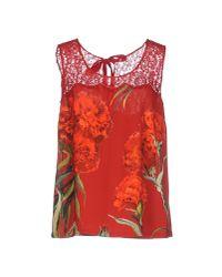 Dolce & Gabbana | Red Vest | Lyst