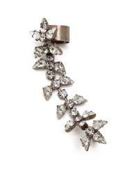 DANNIJO - Metallic Gwendolyn Ear Cuff - Silver/Crystal - Lyst