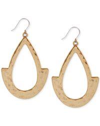 Lucky Brand | Metallic Two-tone Oblong Hoop Earrings | Lyst