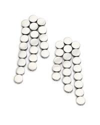 John Hardy | Metallic Dot Sterling Silver Fringe Drop Earrings | Lyst