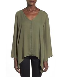 Soprano | Green Shark Bite Hem Top | Lyst