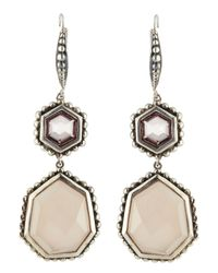 Stephen Dweck | Metallic Nouveau Quartz & Chalcedony Double-drop Earrings | Lyst