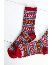 Anonymous Ism | Blue Printed Sock | Lyst
