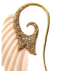 Noor Fares | Metallic Diamond, Mammoth Ivory & Gold Wing Earrings | Lyst