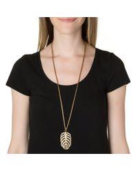 Lulu Frost | Metallic Gold Drift Pendant Necklace | Lyst