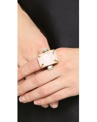 Erickson Beamon - Metallic Cocktail Ring - White - Lyst
