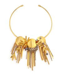 Lizzie Fortunato | Metallic Palace 6mm Peacock Pearl Cluster Fringe Convertible Collar Necklace/pin | Lyst