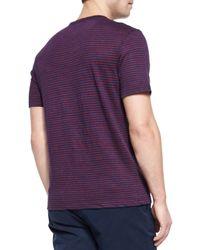 Michael Kors - Purple Striped Linen Short-Sleeve Tee & Tailored Cotton-Stretch Shorts for Men - Lyst