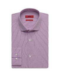 HUGO - Purple 'eastonx ' | Slim Fit, Microplaid Dress Shirt for Men - Lyst