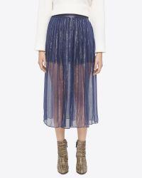 Billy Reid - Blue Gatsby Skirt - Lyst