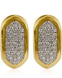 Monica Vinader | Metallic Small Gold Vermeil Diamond Baja Earrings | Lyst