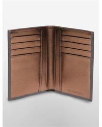 Calvin Klein - Gray Jeans Leather Billfold Wallet for Men - Lyst