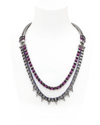 John & Pearl | Blue Spike Necklace | Lyst