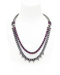 John & Pearl - Blue Spike Necklace - Lyst