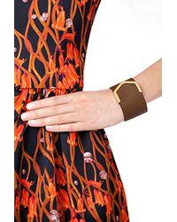 Fendi - Brown Leather 2Jours Bracelet - Lyst