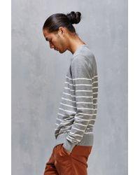 Vans - Gray Livingston Stripe Sweater for Men - Lyst