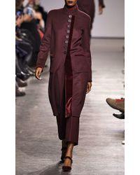 Zac Posen | Purple Midlength Multi Button Coat | Lyst