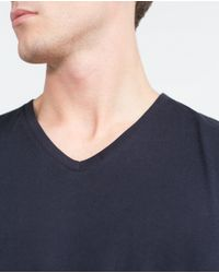 Zara | Blue Relax Fit T-shirt for Men | Lyst