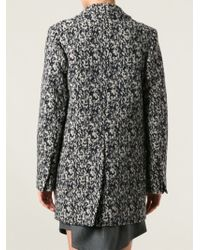 Carven - Blue 'manteau Drap' Coat - Lyst