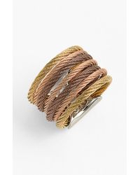 Alor | Metallic 'classique' Stack Ring - Bronze/ Blush/ Yellow | Lyst
