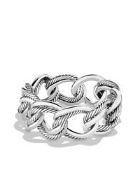 David Yurman - Metallic Curb Chain Large Link Bracelet - Lyst