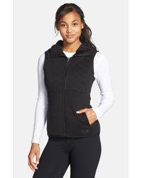 The North Face - Black 'caroluna' Reversible Hooded Vest - Lyst