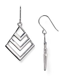 Ralph Lauren | Metallic Lauren Geometric Drop Earrings | Lyst