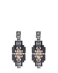 Oasis | Multicolor Deco Stone Statement Drop Earrings | Lyst