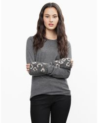 Wool And The Gang | Gray Def Leopard Mittens | Lyst