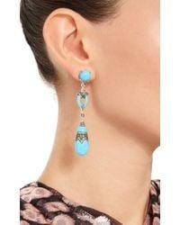 Wendy Yue   Blue Turquoise Drop Earrings   Lyst