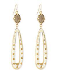 Ashley Pittman - Metallic Shimo Earrings With Labradorite - Lyst