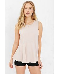 Project Social T | Brown Circle Seamed Tank Top | Lyst