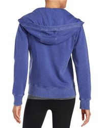 Calvin Klein | Purple Cotton Blend Zip-front Hoodie | Lyst