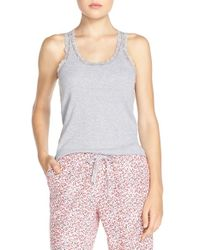Jane & Bleecker New York | Gray Variegated Ribbed Racerback Tank | Lyst