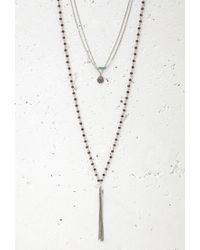 Forever 21 - Metallic Charm And Fringe Necklace Set - Lyst