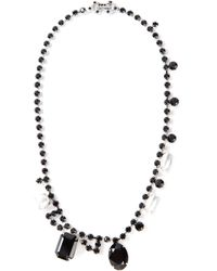 Tom Binns | Black Crystal and Marqui Pearl Necklace | Lyst