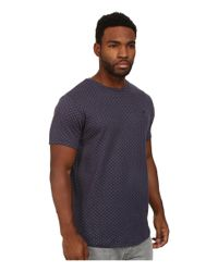 Timberland - Blue Weston Bonded Polka Knit Short Sleeve Crew With Scalloped Bottom for Men - Lyst