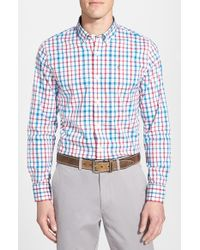 Victorinox | Blue 'alastair' Tailored Fit Plaid Sport Shirt for Men | Lyst