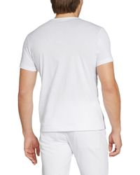 BOSS Green - Gray 'tee' | Cotton Abstract Print T-shirt for Men - Lyst