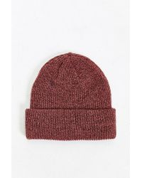 Obey - Orange Premier Beanie for Men - Lyst