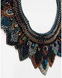ASOS - Multicolor Midnight Layered Bib Necklace - Lyst