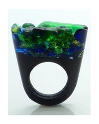 Pasionae | Green Murano Ring Opaque Base - Piety | Lyst