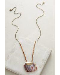 Anthropologie - Purple Seastone Pendant Necklace - Lyst