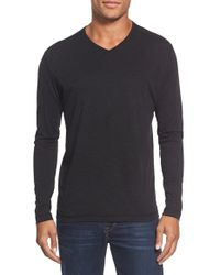 Agave | Black 'walter' Long Sleeve V-neck T-shirt for Men | Lyst