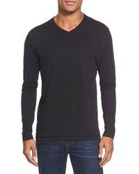 Agave - Black 'walter' Long Sleeve V-neck T-shirt for Men - Lyst