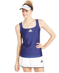 Adidas | Blue Premium Climalite® Jacquard Tank Top | Lyst