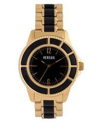 Versus | Metallic 'tokyo' Two Tone Bracelet Watch | Lyst