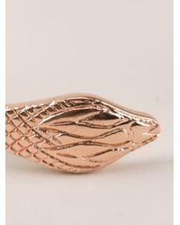 Genevieve Jones | Metallic Snake Head Bracelet | Lyst