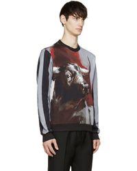 Dolce & Gabbana - Gray Grey And Black Bull Sweatshirt for Men - Lyst