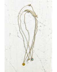 Urban Outfitters | Metallic Perfect Friends Layering Necklace Set | Lyst